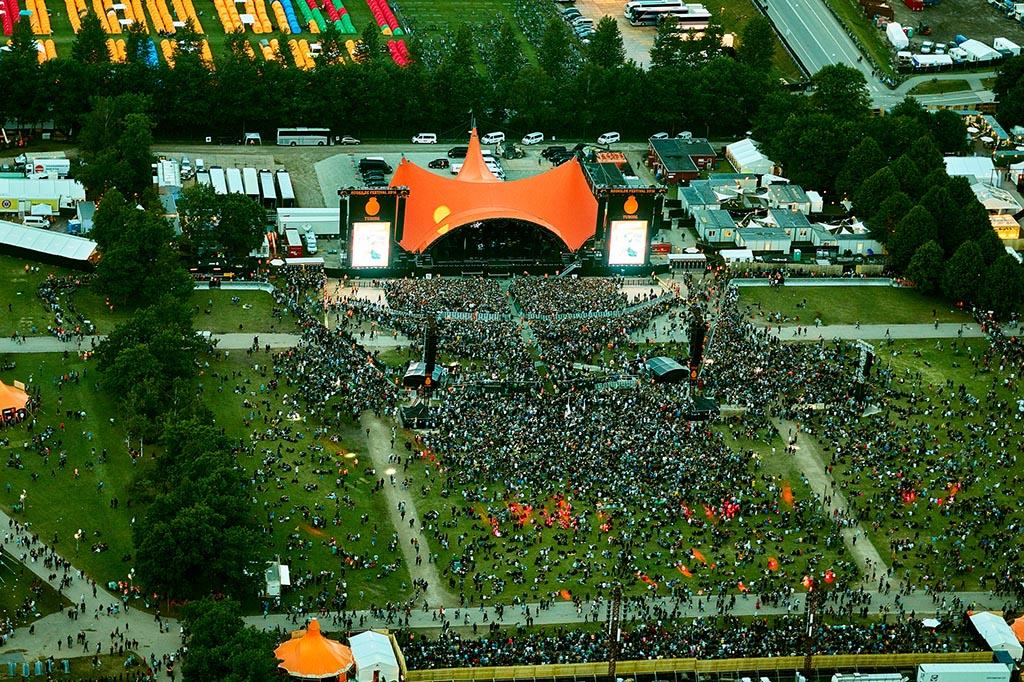 Helikopterflyvning Roskilde festival