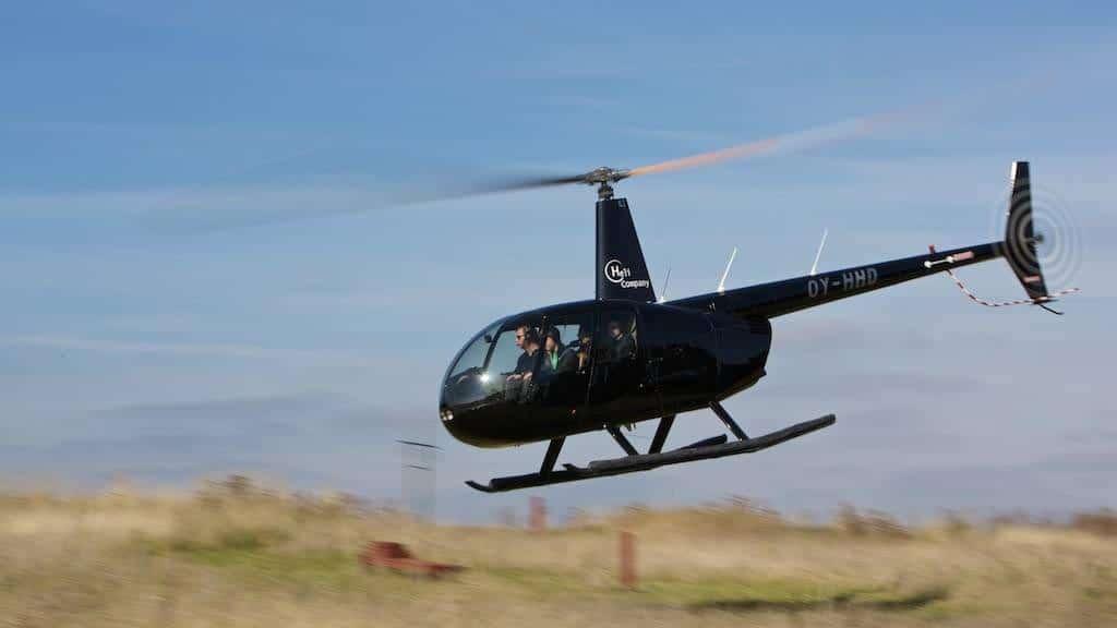 Helikoptertur - Jylland